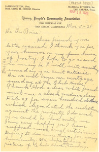 Letter from M. T. Dodge to W. E. B. Du Bois