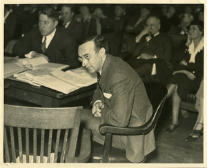Howard B. Gill and daughter Joan at State House hearings