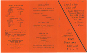 American Friends Service Committee peace conference leaflet