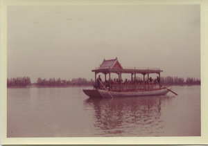 Riverboat on Kunming Lake in Beijing, China