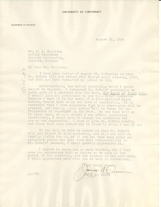Letter from James A. Quinn to S. A. Sullivan