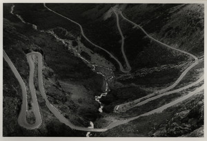 Road with switchbacks