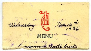 Fragment of menu