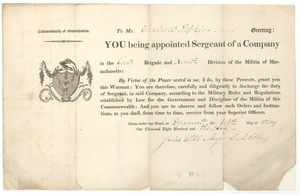 Appointment of Charles W. Hopkins to sergeant of a company