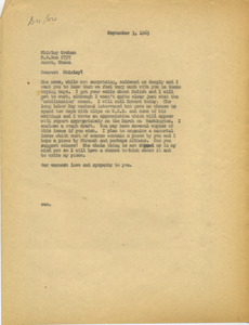 Letter from James Aronson to Shirley Graham Du Bois