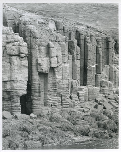 Basaltic columns from boat