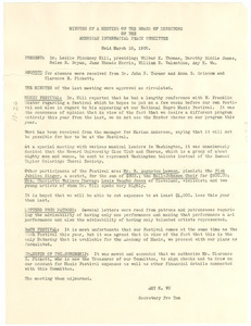 American Interracial Peace Committee minutes