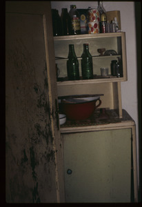 Bottles and old tins