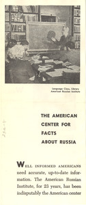 American Russian Institute leaflet