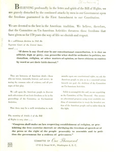 Committee of One Thousand founding principles
