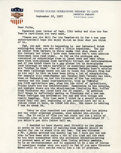 Letter from Joel M. Halpern to Nettie and Carl Halpern