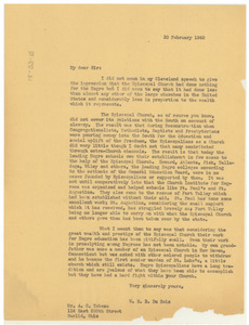 Letter from W. E. B. Du Bois to A. C. Tabeau