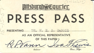 Pittsburgh Courier press pass