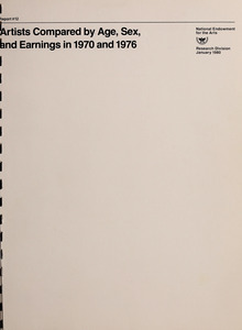 Artists compared by age, sex, and earnings in 1970 and 1976