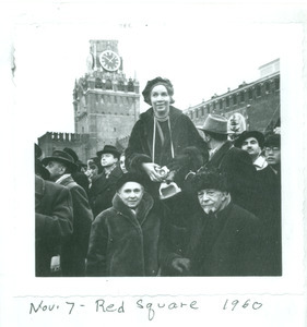 Shirley Graham Du Bois and W. E. B. Du Bois, Red Square, Moscow