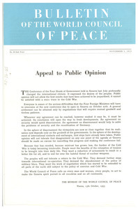 Bulletin of the World Council of Peace, number 20