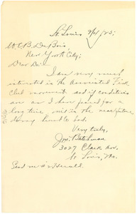 Letter from J. M. Batchman to W. E. B. Du Bois