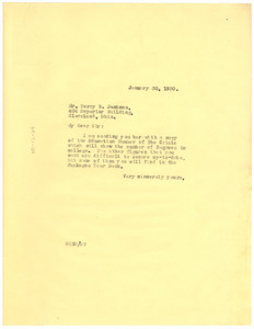 Letter from W. E. B. Du Bois to Perry B. Jackson