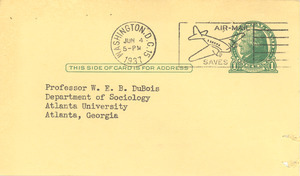 Form letter from American Association of University Professors to W. E. B. Du Bois