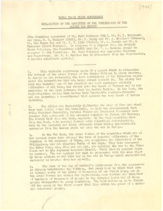 Declaration of the World Trade Union Conference Committee on the Furtherance of the Allied War Effort