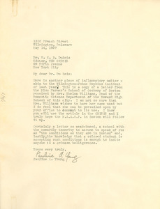 Letter from Pauline A. Young to W. E. B. Du Bois
