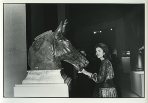 Jackie O. with a San Marco Horse