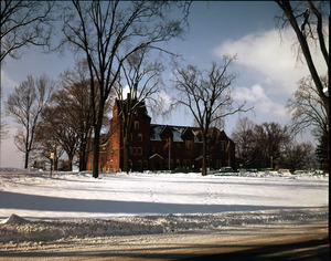 South College in snow