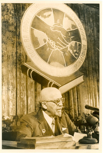 W. E. B. Du Bois addressing Afro-Asian Writers Conference, Tashkent