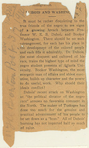 Newspaper clipping from The Boston Post