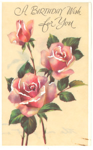 Greeting card from Florence H. Luscomb to W. E. B. Du Bois