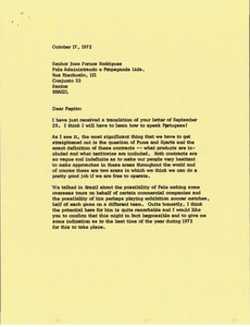 Letter from Mark H. McCormack to Jose Fornos Rodrigues