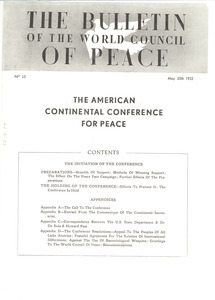 Bulletin of the World Council of Peace, number 25