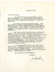 Letter from Shirley Du Bois to P. L. Prattis