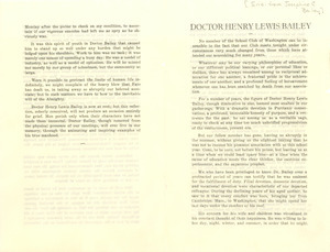 Eulogy of Doctor Henry Lewis Bailey