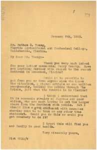 Letter from W. E. B. Du Bois to Nathan B. Young