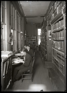 Students studying in library, Old Chapel (UMass Amherst)