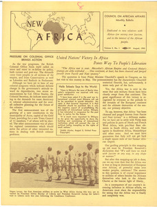 New Africa volume 2, number 1