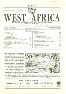 West Africa newspaper volume 31, issue 1579