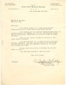Letter from A. Baxter Whitby to W. E. B. Du Bois