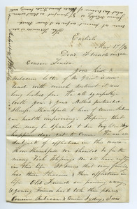Letter from J. B. Weakley to Louisa Gass