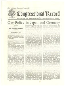 Our policy in Japan and Germany
