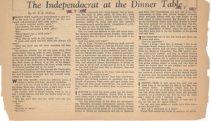 The independocrat at the dinner table