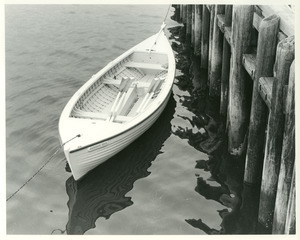 Rowboat at museum wharf