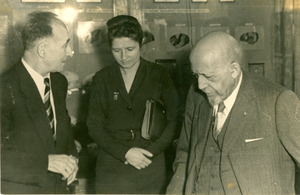 W. E. B. Du Bois with Russian Africanist and interpreter in Moscow