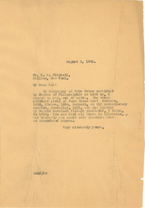 Letter from W. E. B. Du Bois to E. A. Mitchell