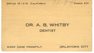 A. B. Whitby, dentist