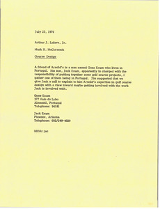 Memorandum from Mark H. McCormack to Arthur J. Lafave