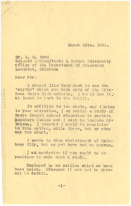 Letter from W. E. B. Du Bois to H. M. Bond