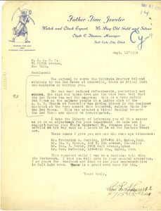 Letter from Clyde L. Thomas to National Association for the Advancement of Colored People