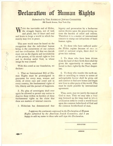 American Jewish Committee declaration of human rights
